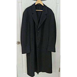 Jacob Siegel  Lamb Wool Cashmere Mens Trench Coat